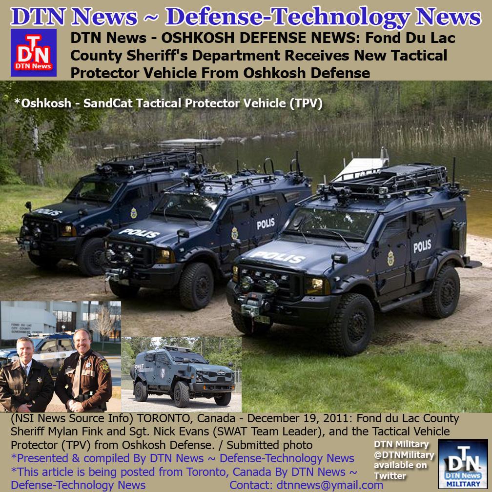 DTN News – OSHKOSH DEFENSE NEWS: Fond Du Lac County ...